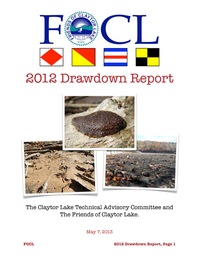 2012 Drawdown Report 1
