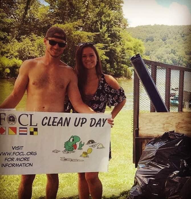 Congratulations to Travis Cox & Andrea Williams for collecting the most trash during All Lake Clean Up Day!