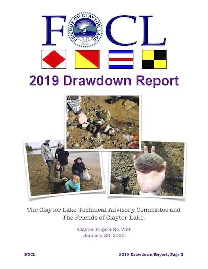 2019 Claytor Lake Drawdown Report